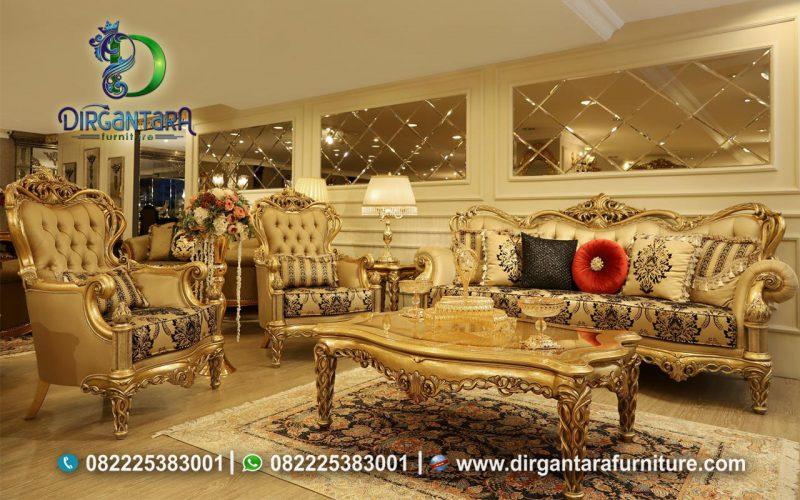 Sofa Tamu Klasik Gold Termewah Terbaik ST-02, Dirgantara Furniture