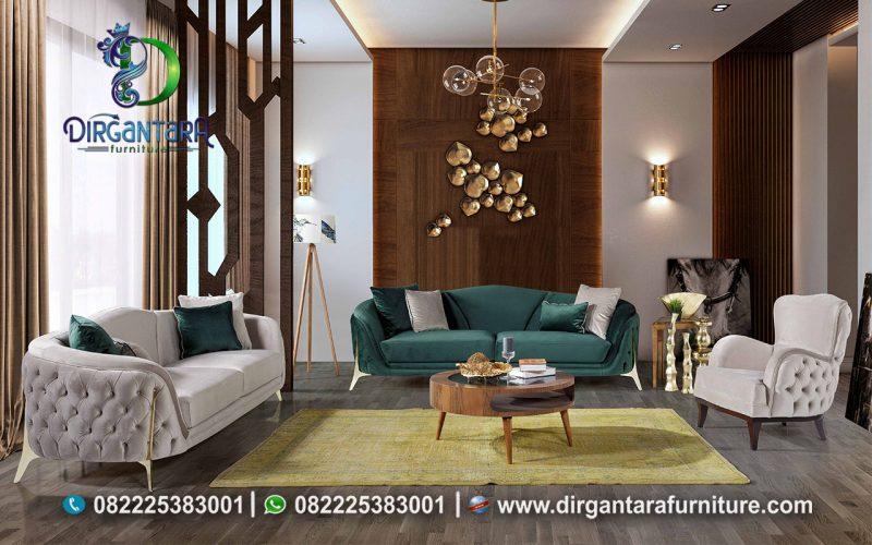 Sofa Tamu Minimalis Retro Modern Terbaru ST-03, Dirgantara Furniture