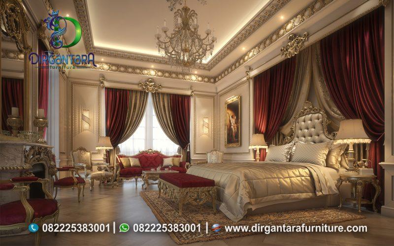 New Desain Kamar Tidur Ukir Mewah Gold KS-02, Dirgantara Furniture