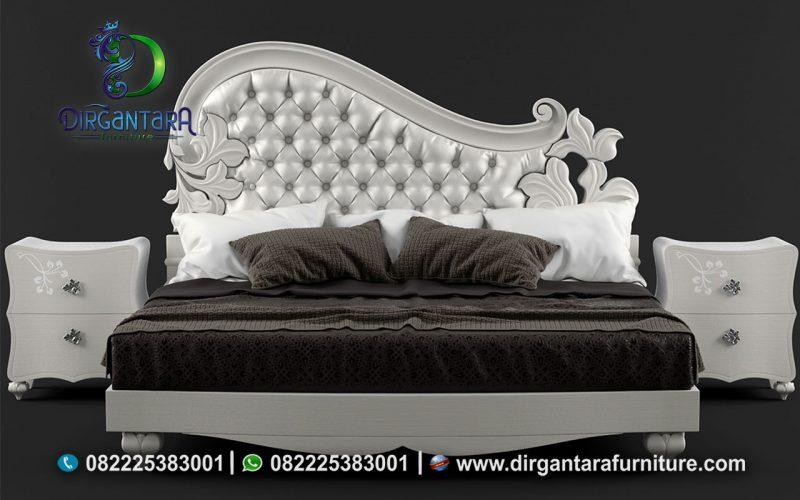 Jual Tempat Tidur Duco Putih Mewah Elegan KS-06, Dirgantara Furniture