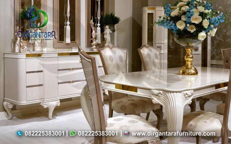Desain Meja Makan Klasik Terbaru MM-02, Dirgantara Furniture