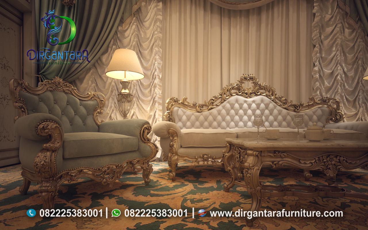 Sofa Ukir Jepara Kain Bludru Mewah ST-04, Dirgantara Furniture