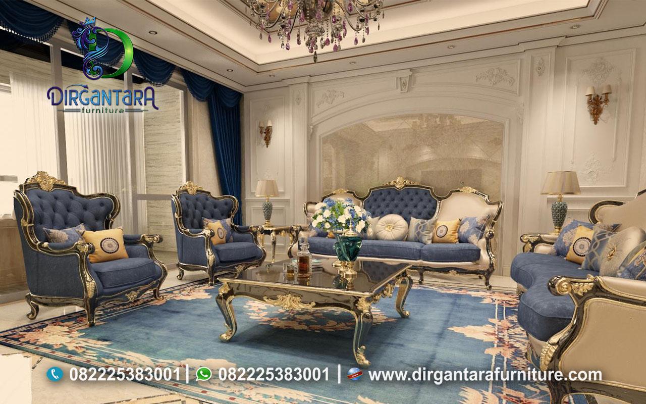 Sofa Design Ruang Tamu Klasik Mewah ST-09, Dirgantara Furniture