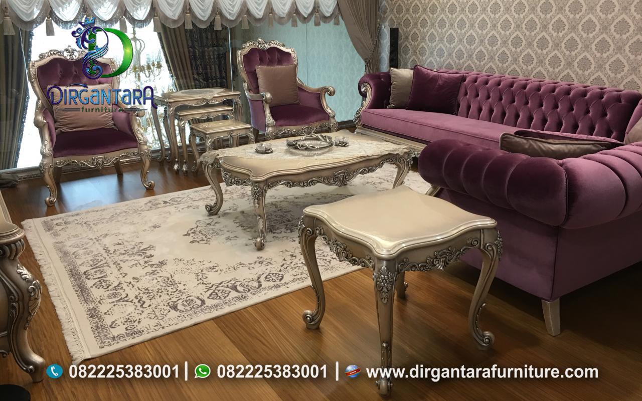 Jual Set Sofa Bed Sudut Ukir Terbaru ST-11, Dirgantara Furniture