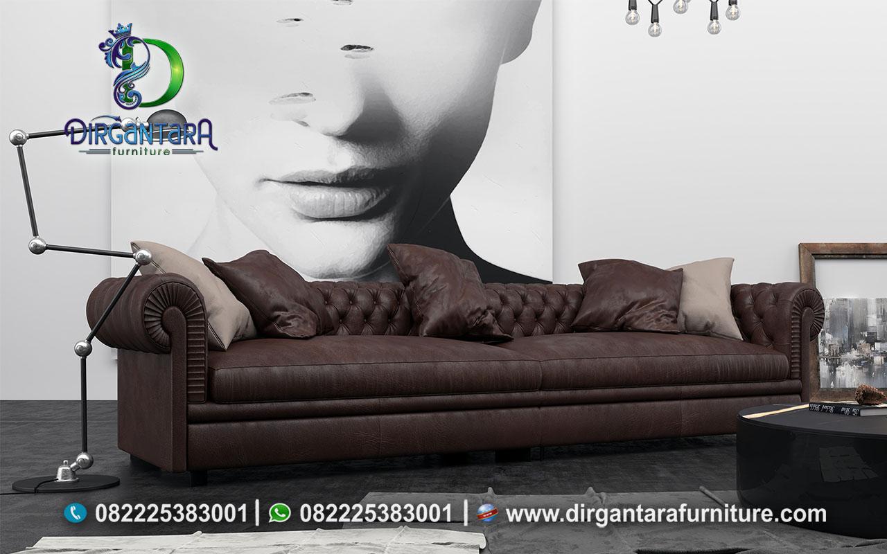 Sofa Chesterfield 3 Seater Coklat Tua ST-20, Dirgantara Furniture