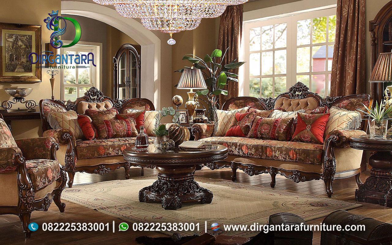 Sofa Set Kayu Jati Antik Ukir Jepara ST-21, Dirgantara Furniture