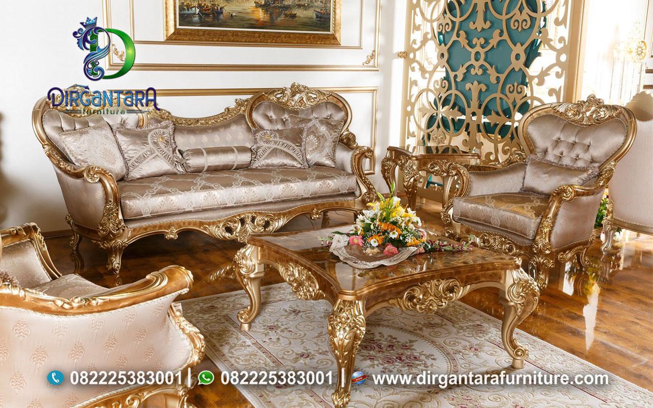 Set Sofa Luxury Gold Marmer Glamour ST-24, Dirgantara Furniture