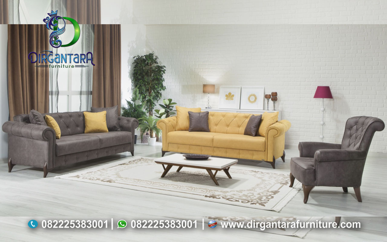 Inspirasi Sofa Chester Kombinasi 2 Warna ST-33, Dirgantara Furniture