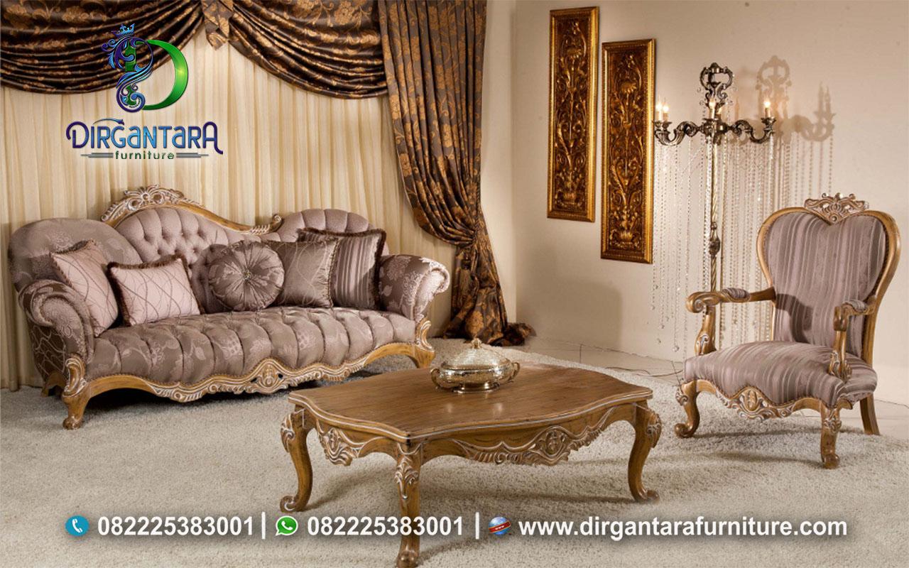 Jual Set Sofa Elegan Warna Natural Terbaik ST-42, Dirgantara Furniture