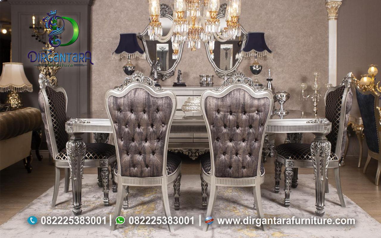 Jual Meja Makan Ukir Silver Terbaik MM-12, Dirgantara Furniture