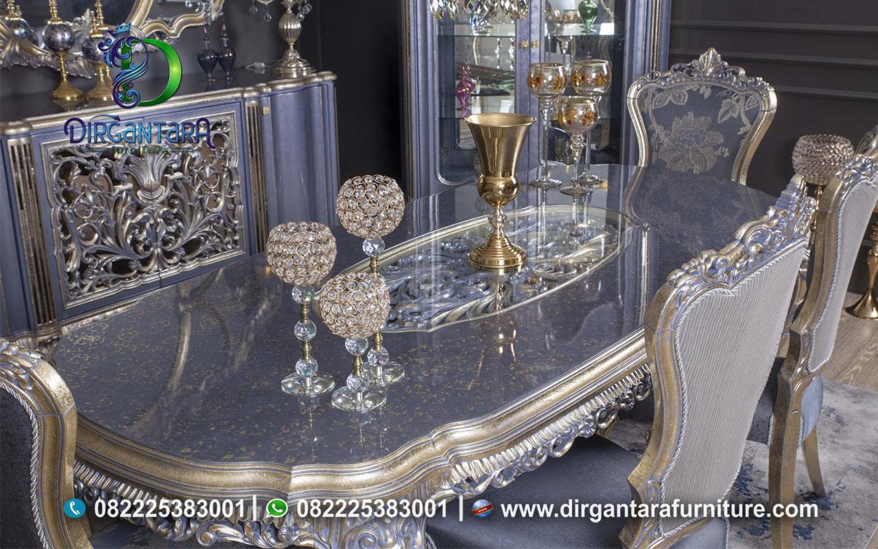 Meja Makan Ukir Abu ABu Mewah MM-17, Dirgantara Furniture