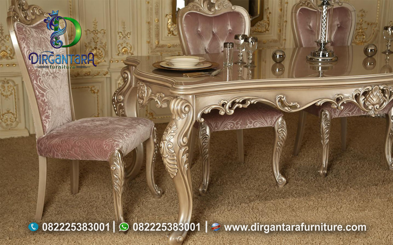 New Meja Makan Ukir Finishing Soft Colour MM-20, Dirgantara Furniture