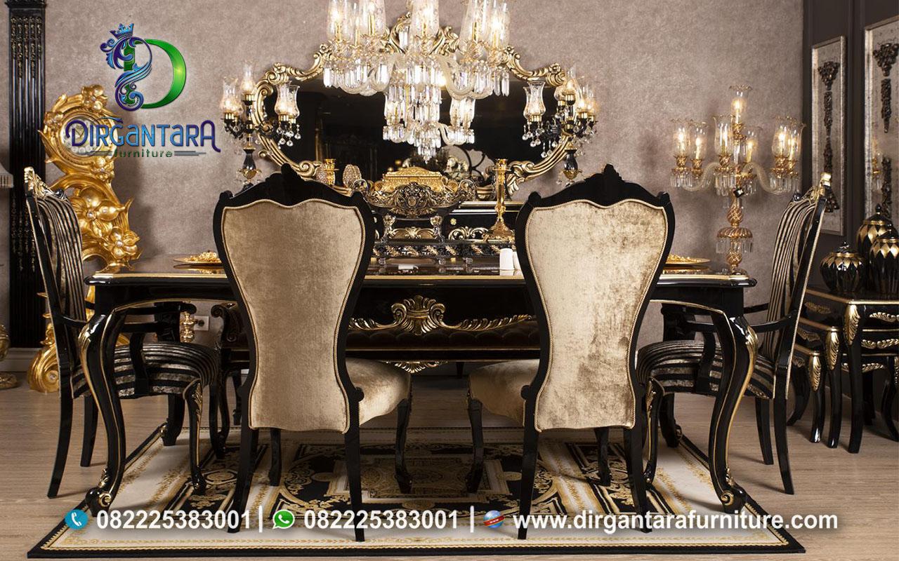 Desain Meja Makan Model Terbaru Black Doft MM-22, Dirgantara Furniture