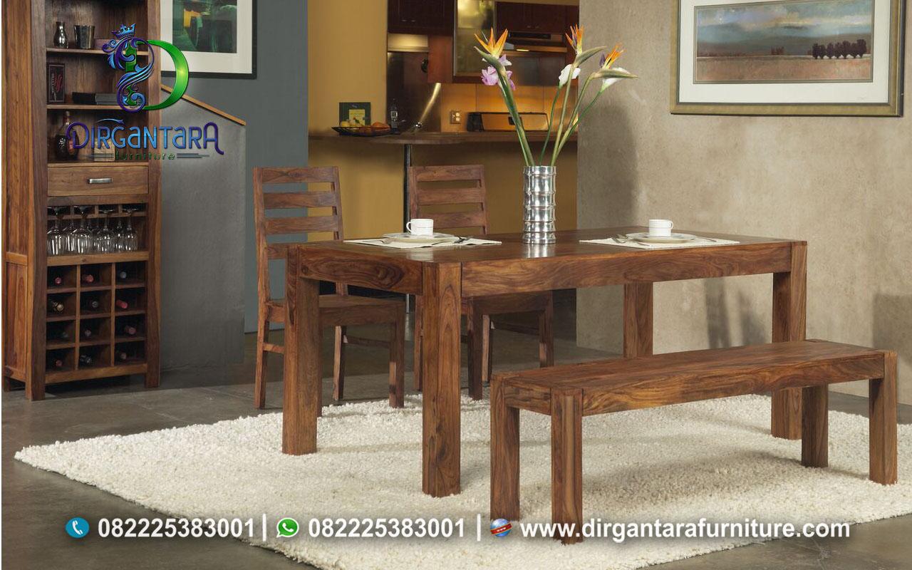 Meja Makan Murah Minimalis Kayu Jati MM-26, Dirgantara Furniture