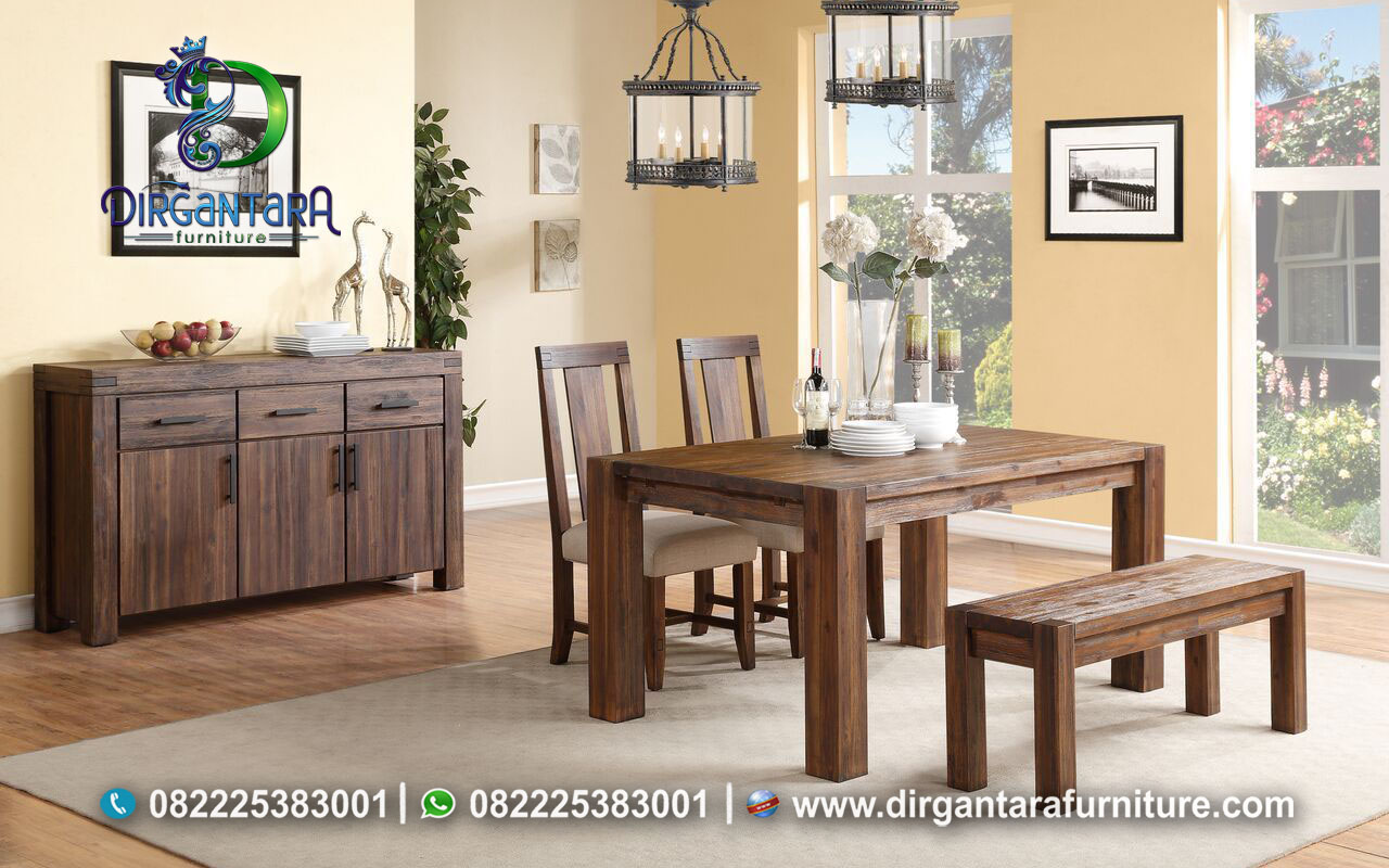 Meja Makan Minimalis Natural Murah MM-27 Dirgantara Furniture