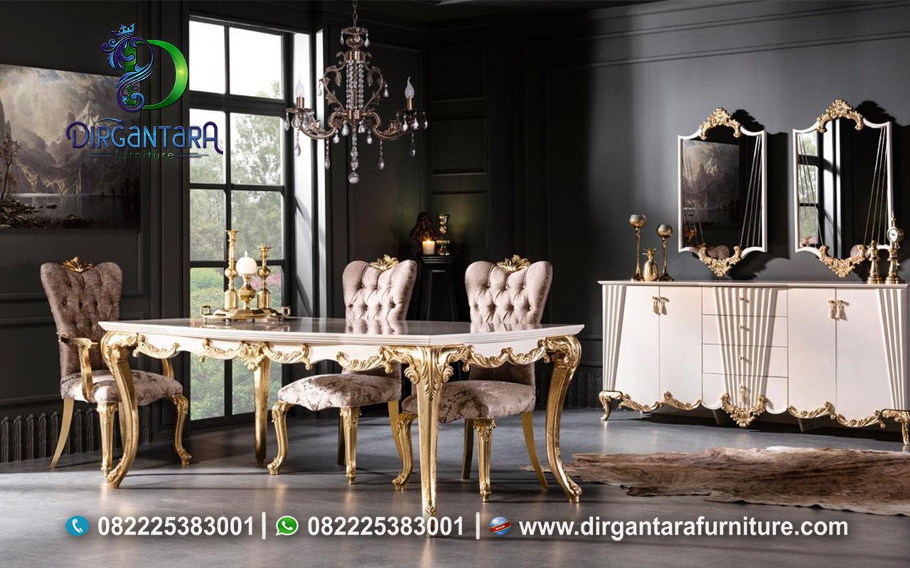 Meja Makan Stylist Bergaya Eropa MM-28, Dirgantara Furniture