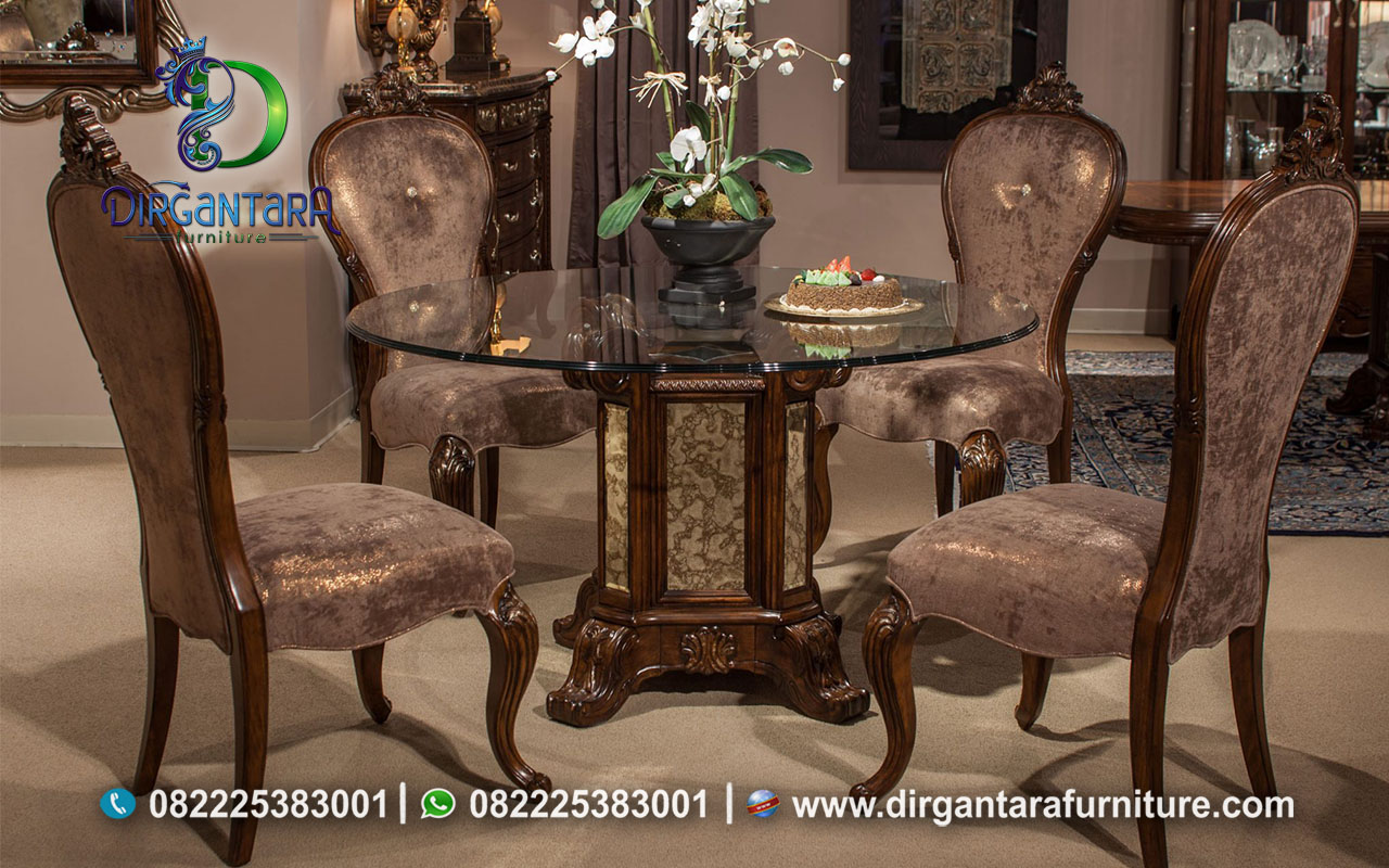 Meja Makan Antik Warna Brown MM-29, Dirgantara Furniture