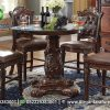 Jual Meja Makan Klasik Bulat 4 Kursi MM-30, Dirgantara Furniture