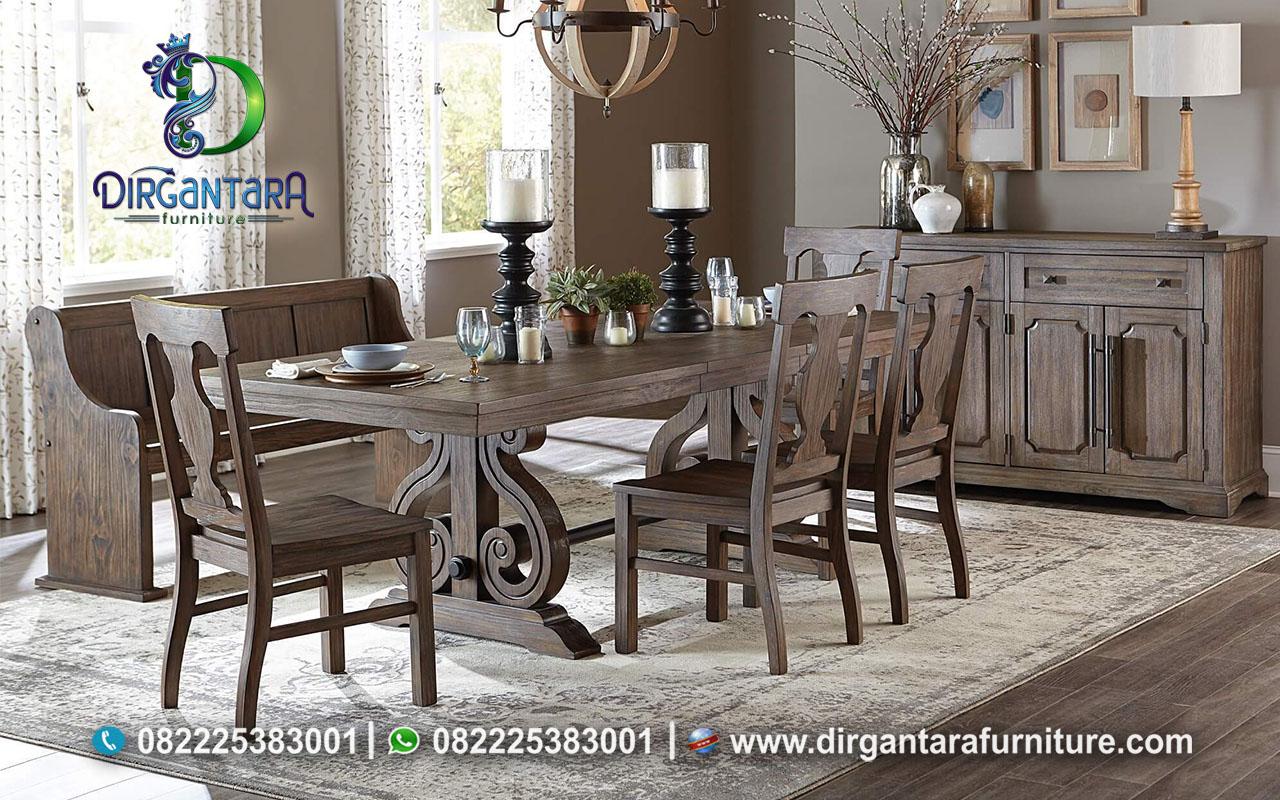 Jual Meja Makan Jati Lawas Rustic MM-39, Dirgantara Furniture