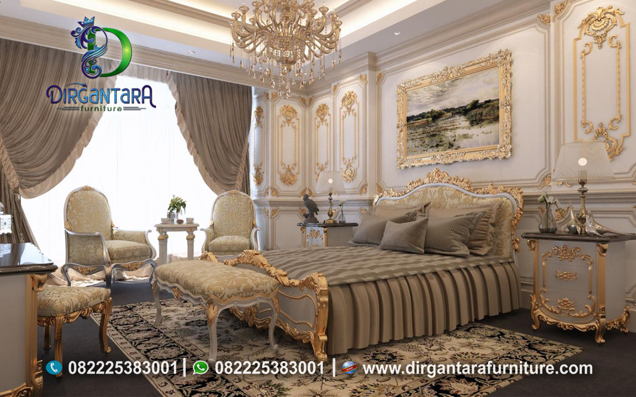 Kamar Set Mewah Warna Gold Leaf KS-14, Dirgantara Furniture