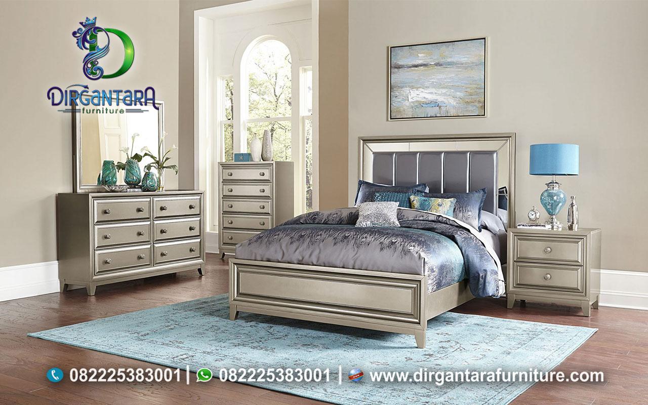 Set Kamar Tidur Minimalis Mewah Duco Silver KS-34, Dirgantara Furniture