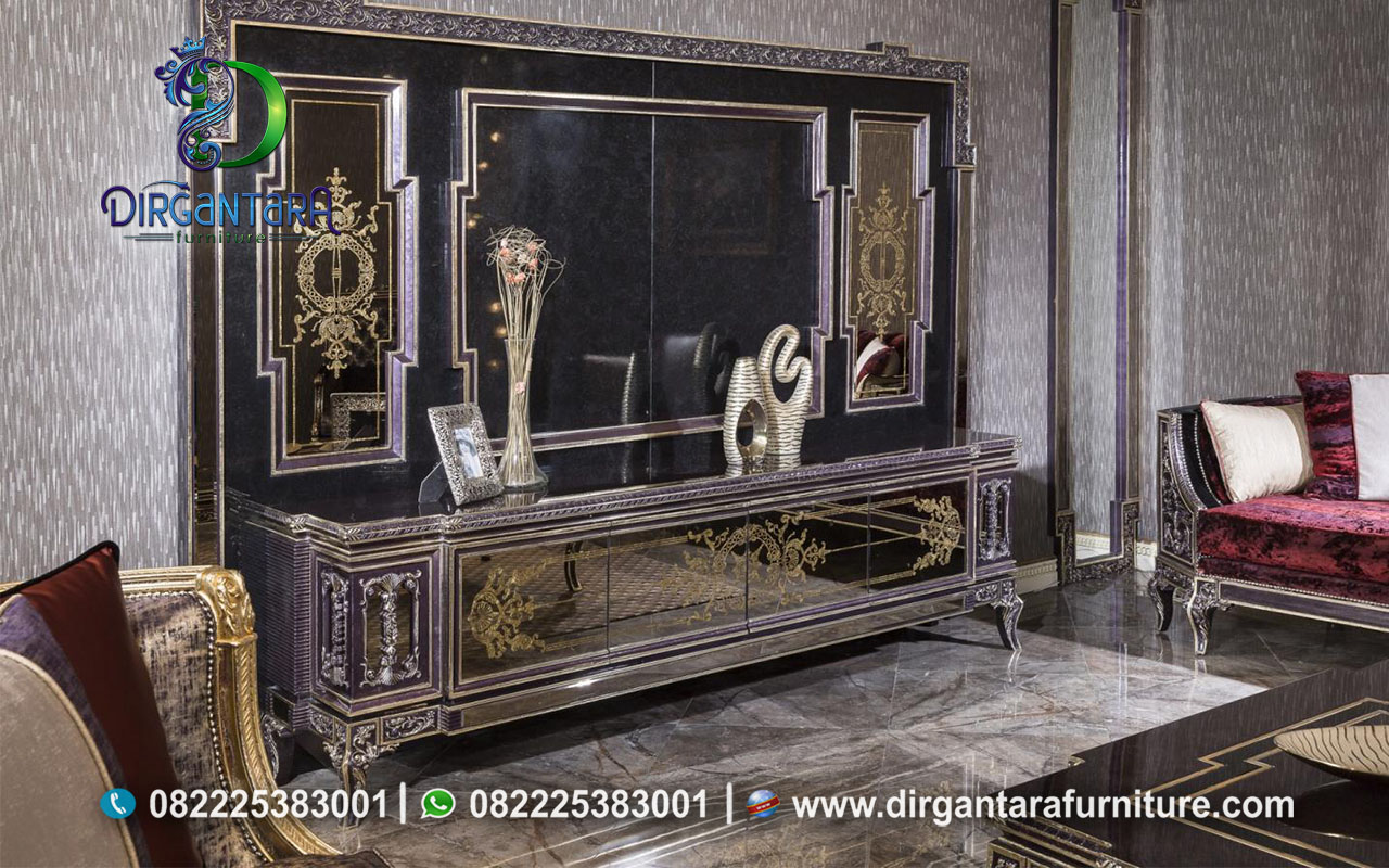 Buffet Dan Backdrop TV Bergaya Arab BTV-05, Dirgantara Furniture