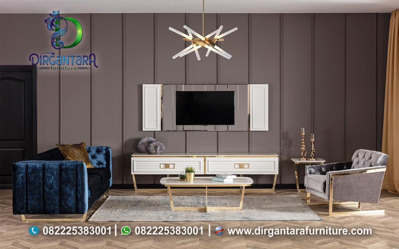 Cabinet Backdrop TV Stainless Ruang Keluarga BTV-20, Dirgantara Furniture