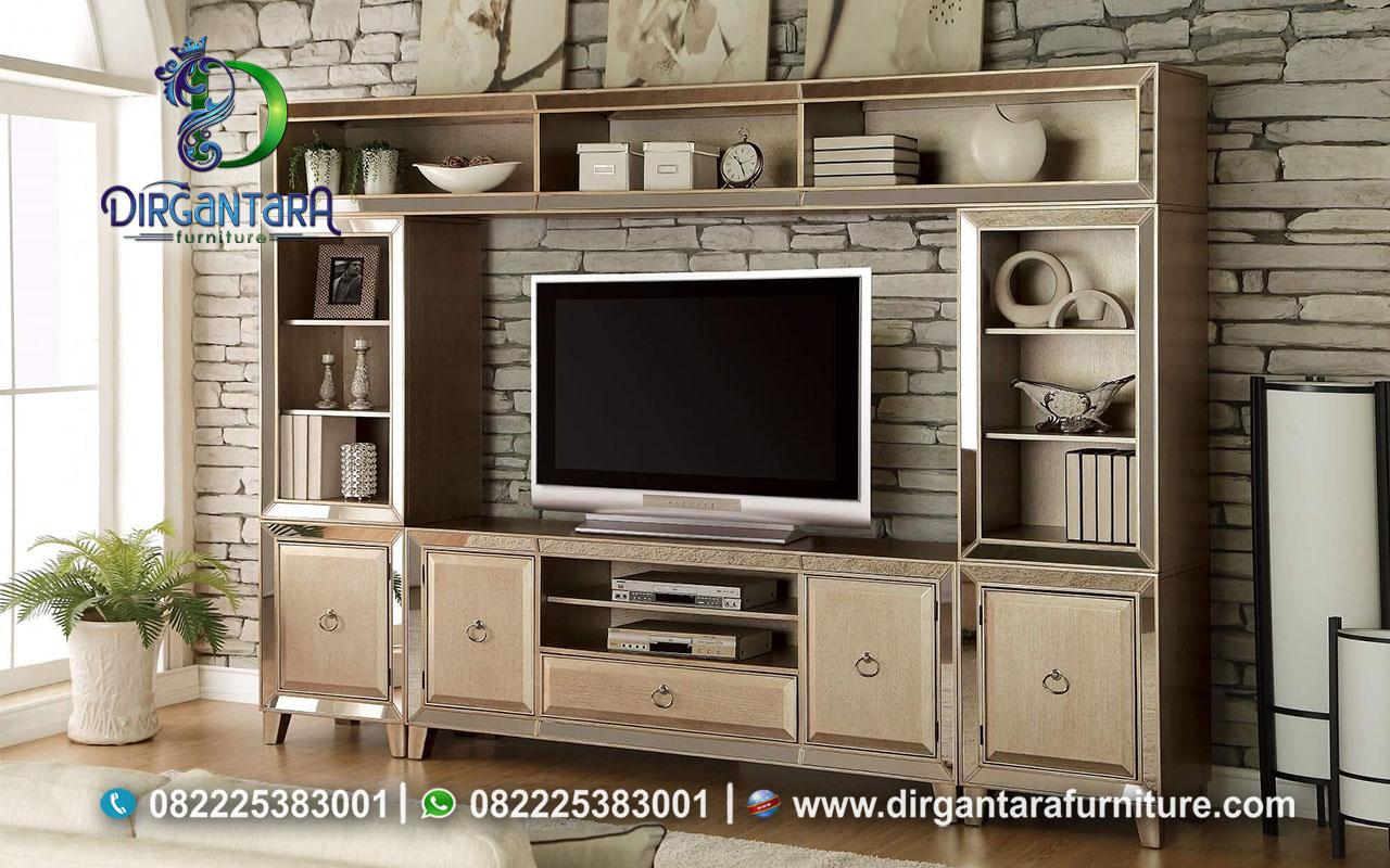 Lemari Rak TV Minimalis Warna Coklat Susu Soft BTV-21, Dirgantara Furniture