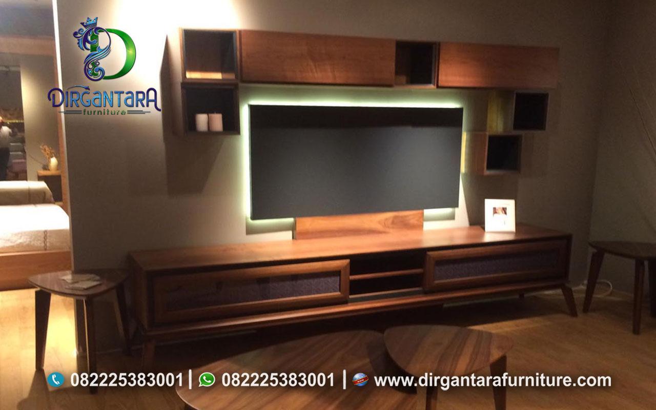 Buffet TV Minimalis Natural Kayu Jati Murah BTV-26, Dirgantara Furniture
