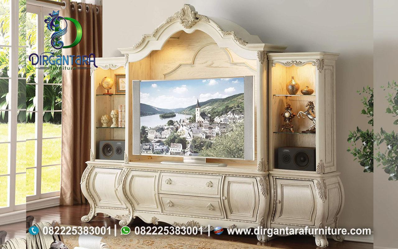 Buffet TV Mewah Modern Hiasan Ukir Jepara BTV-30, Dirgantara Furniture