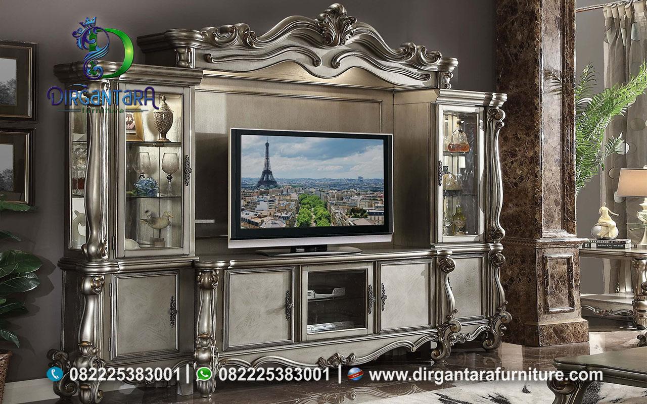 Lemari TV Mewah Berkualitas Jati Asli Jepara BTV-33, Dirgantara Furniture