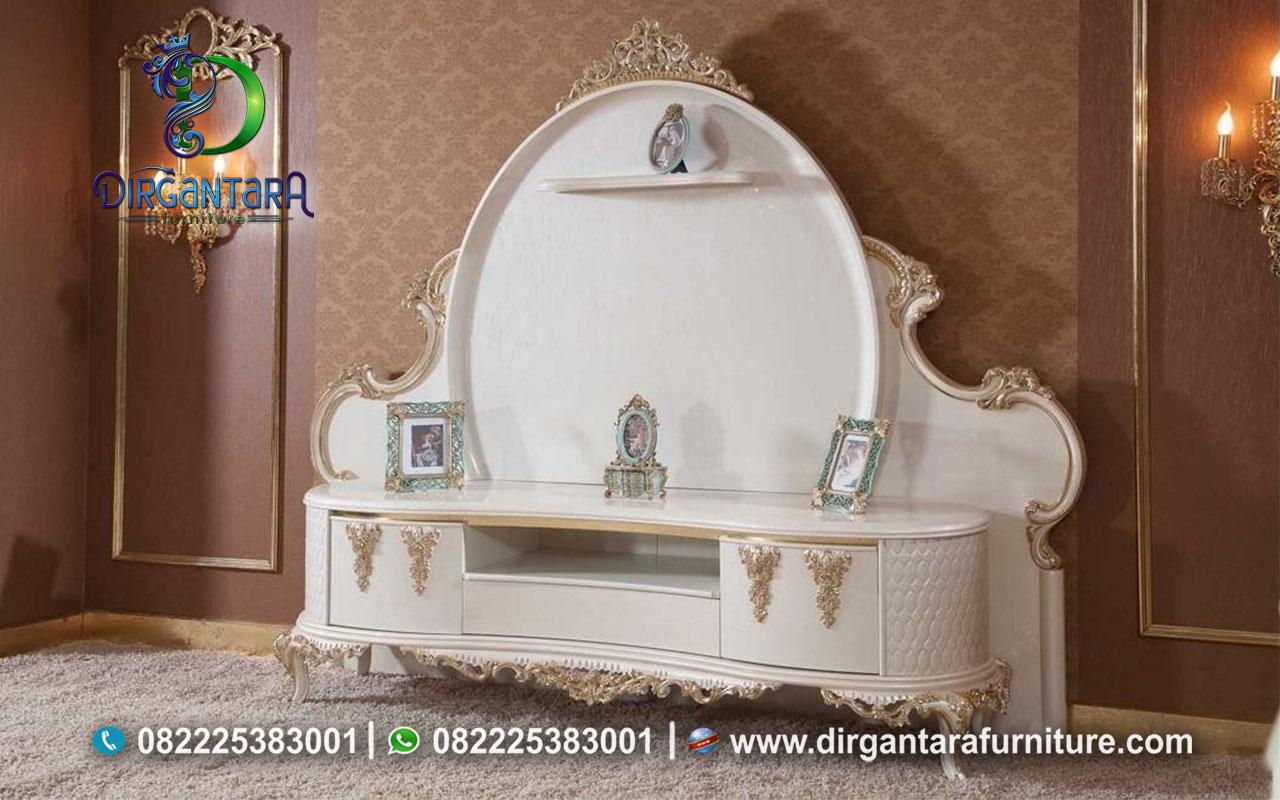 Bergamo Hias Duco Putih Kayu Jati Jepara BTV-70, Dirgantara Furniture