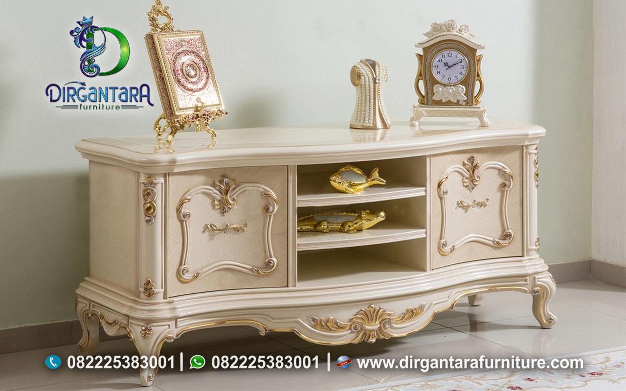 Credensa Hias Minimalis Cream Gold BTV-71, Dirgantara Furniture