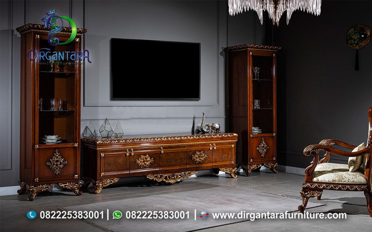 Set Buffet TV Natural Sawo Matang BTV-73, Dirgantara Furniture
