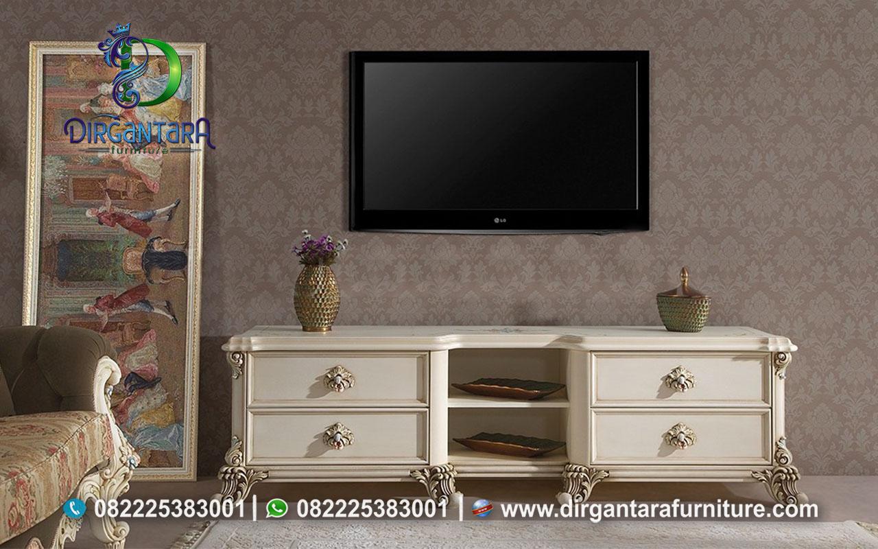 Minimalis Credensa TV Duco Putih Jati TPK BTV-76, Dirgantara Furniture