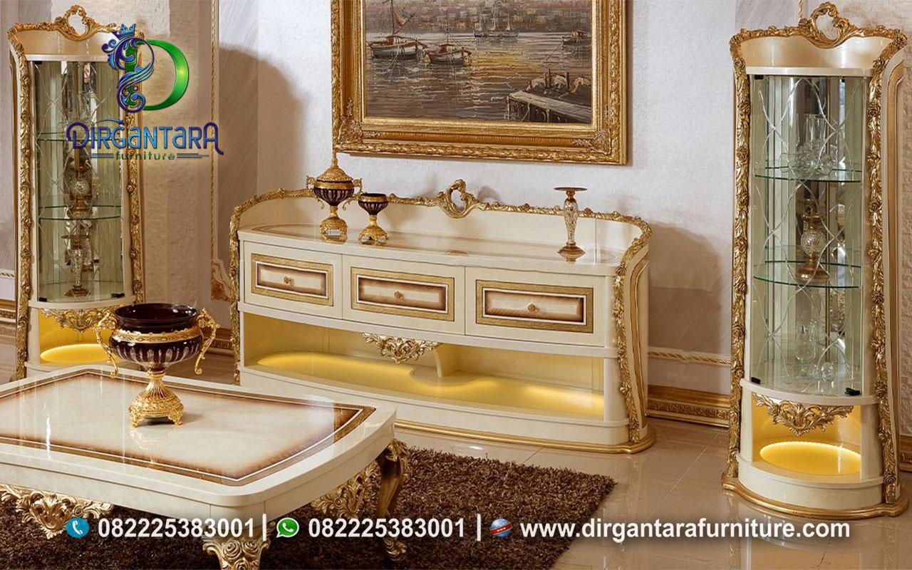 Set Console TV Stand Kabinet Savara Luxury BTV-86, Dirgantara Furniture