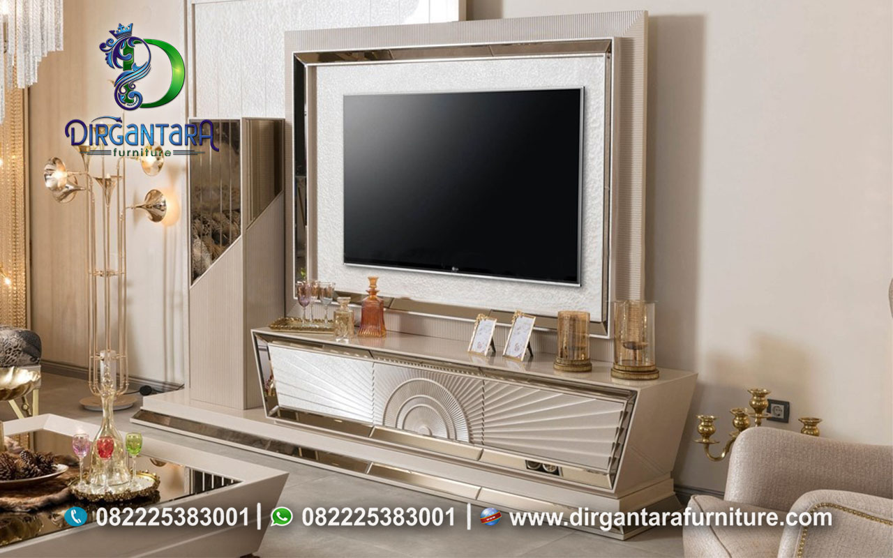 Desain Backdrop TV Minimalis Modern Model Terbaru BTV-88, Dirgantara Furniture