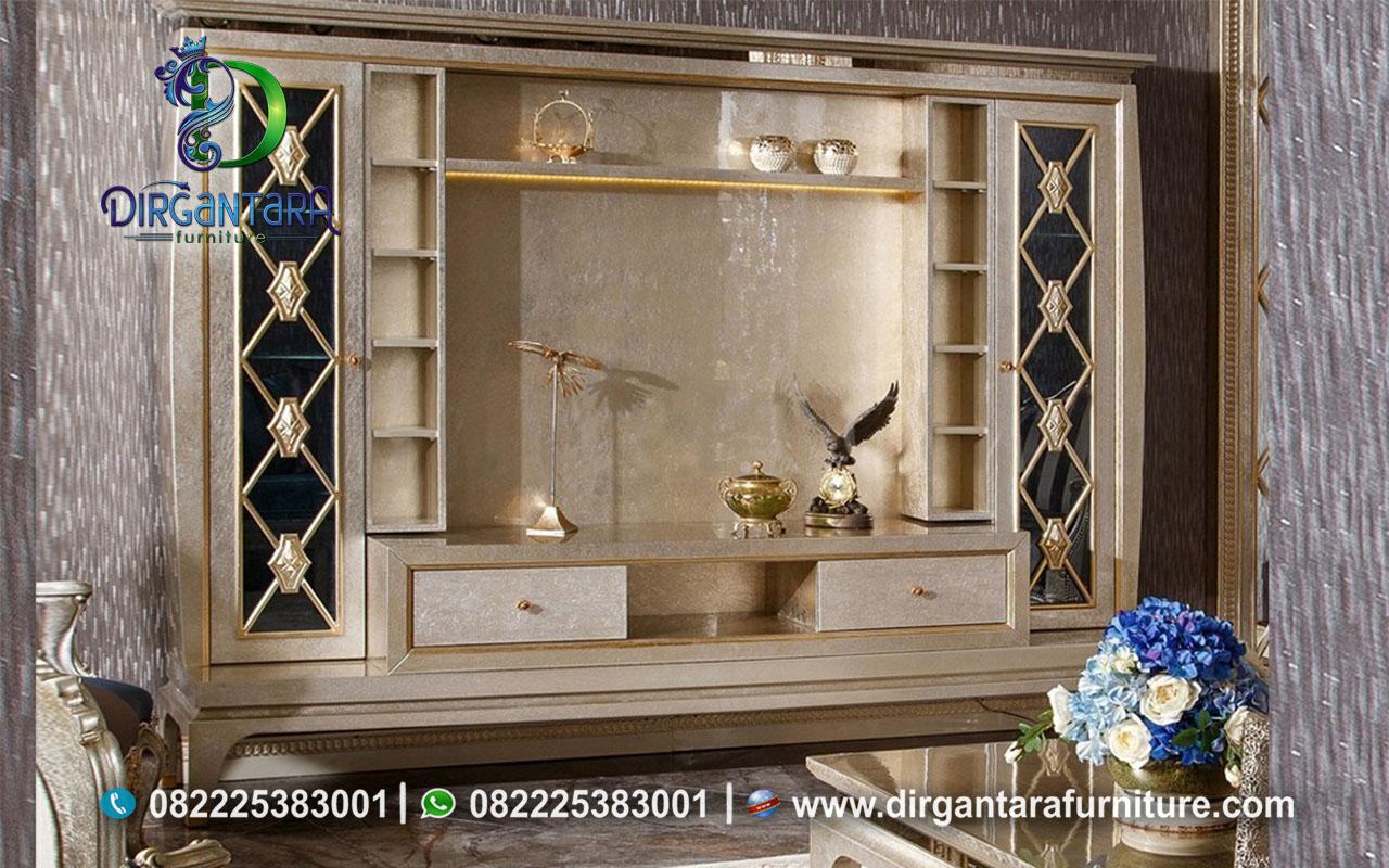 Desain Backdrop TV Sliven Minimalis Glamour BTV-89, Dirgantara Furniture