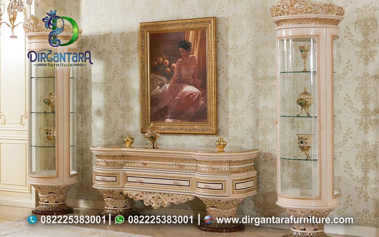Meja TV Lemari Pajangan Sofena Klasik Cantik BTV-90, Dirgantara Furniture