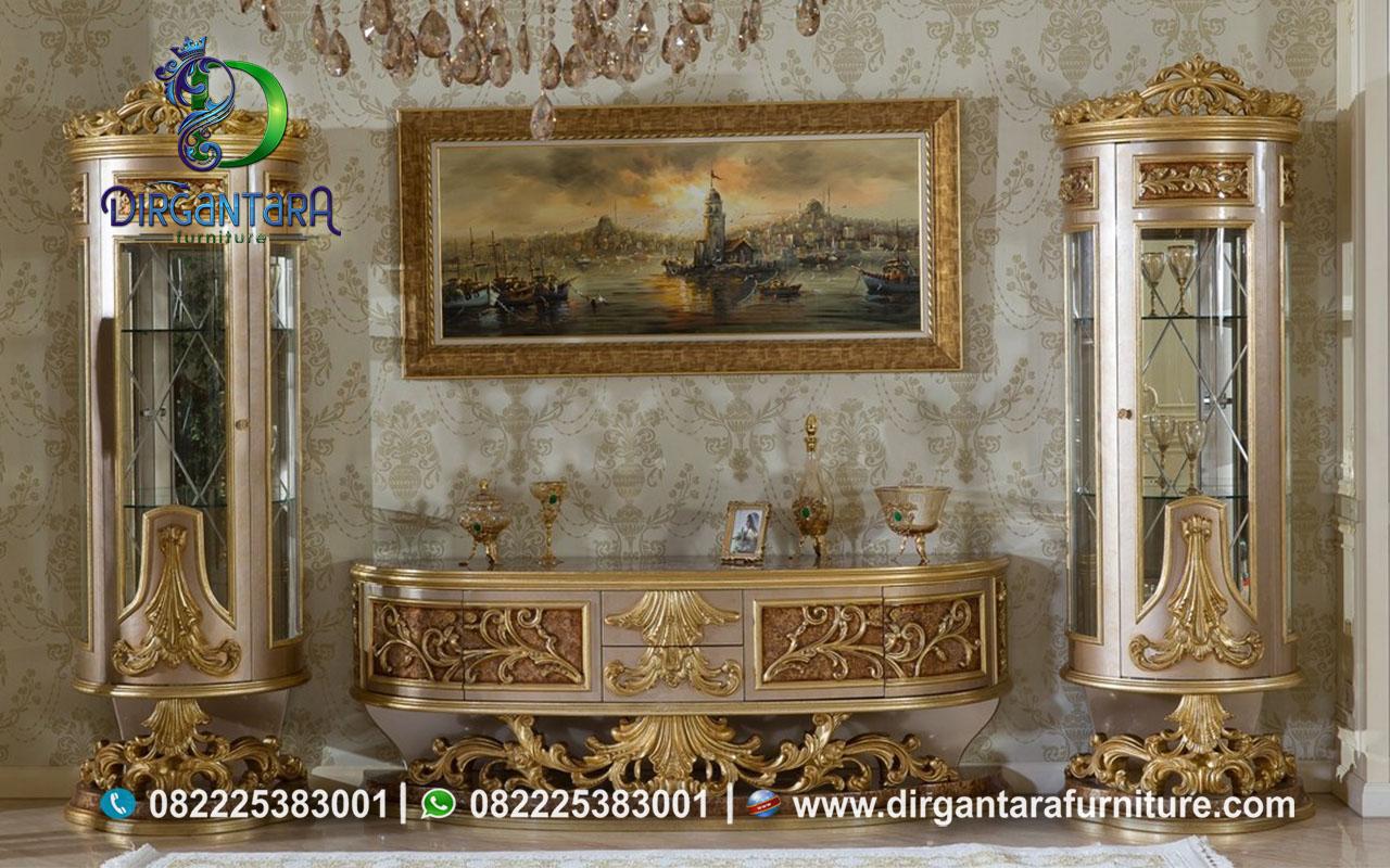 Buffet TV Lemari Hias Sofia Klasik Terbaik BTV-91, Dirgantara Furniture