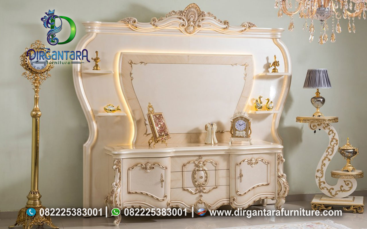 Bergamo TV White Gold Luxury Cantik BTV-93, Dirgantara Furniture