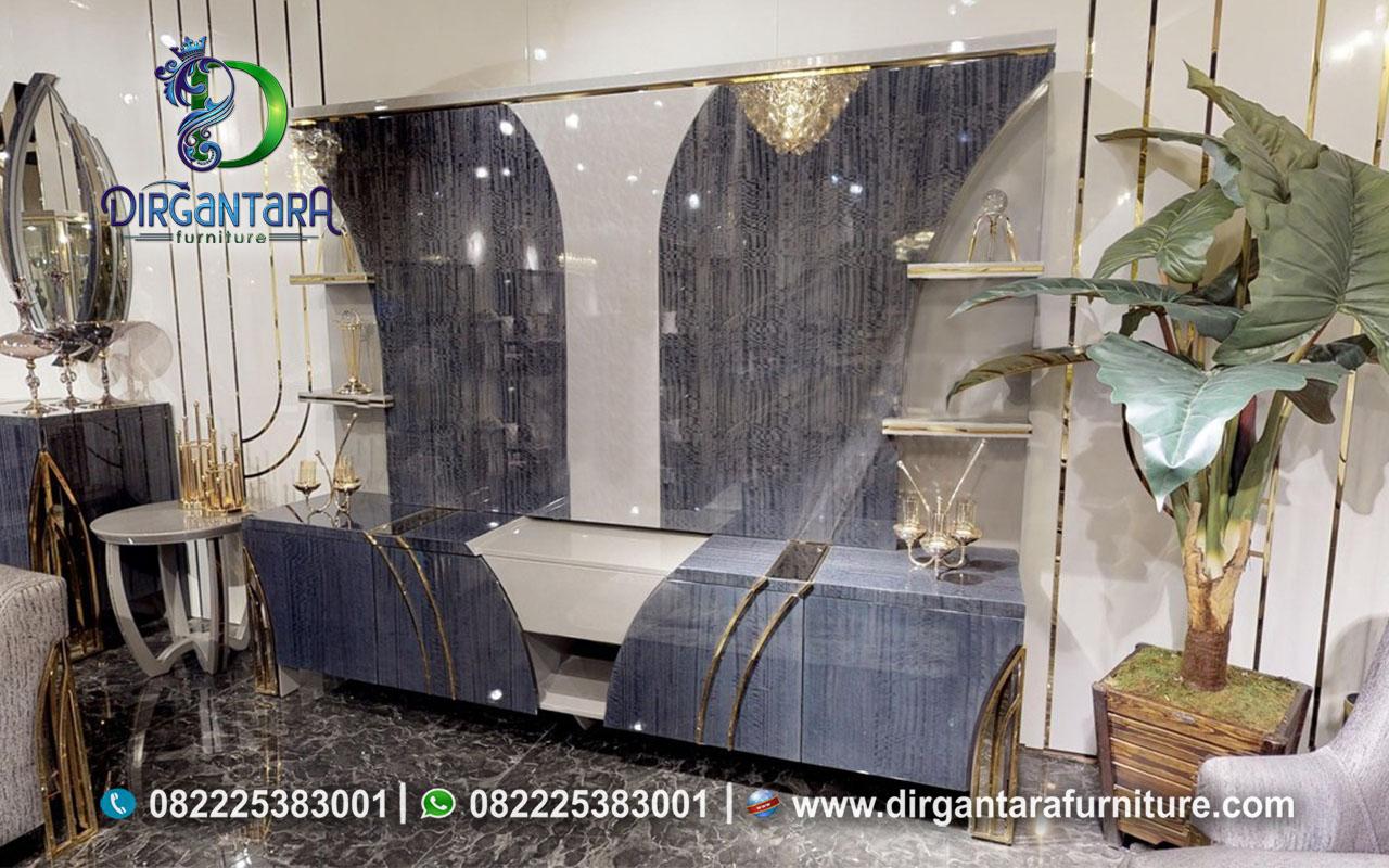 New Violas Model Backdrop TV Luxury Minimalis Modern BTV-96, Dirgantara Furniture