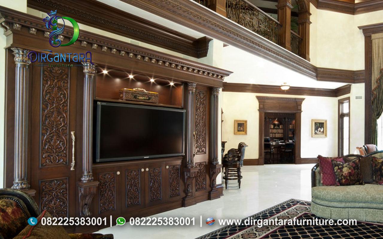 Natural Desain Backdrop TV Antik Full Dinding BTV-103, Dirgantara Furniture