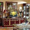 Set Buffet TV Bergaya Klasik Eropa BTV-112, Dirgantara Furniture