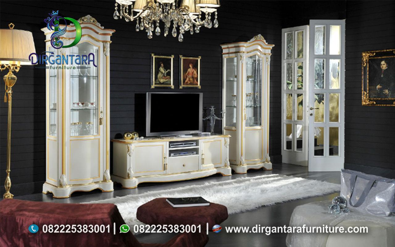 Harga Set Buffet TV Dengan Lemari Pajangan BTV-113, Dirgantara Furniture