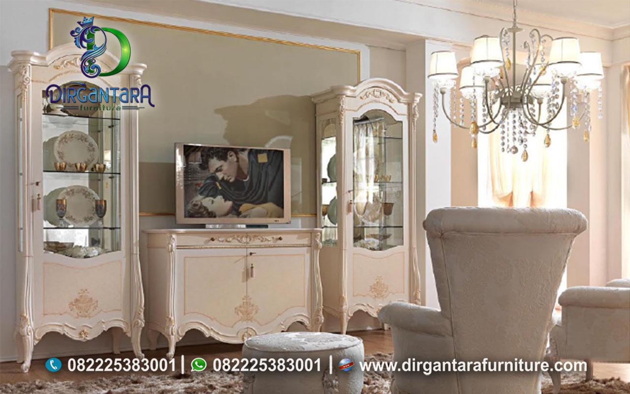Harga Set Meja TV Lemari Hias Pajangan Modern Luxury BTV-115, Dirgantara Furniture