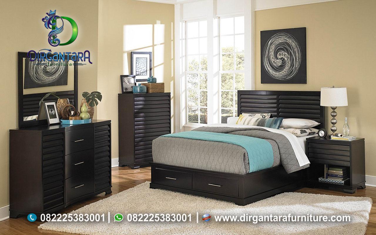 New Bed Set Minimalis Krepyak Hitam Doft KS-123, Dirgantara Furniture