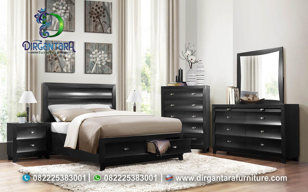 Jual Bed Set Minimalis Warna Hitam KS-124, Dirgantara Furniture