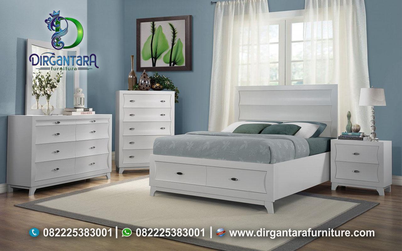 Style Baru Kamar Remaja Bed Set Putih KS-125, Dirgantara Furniture