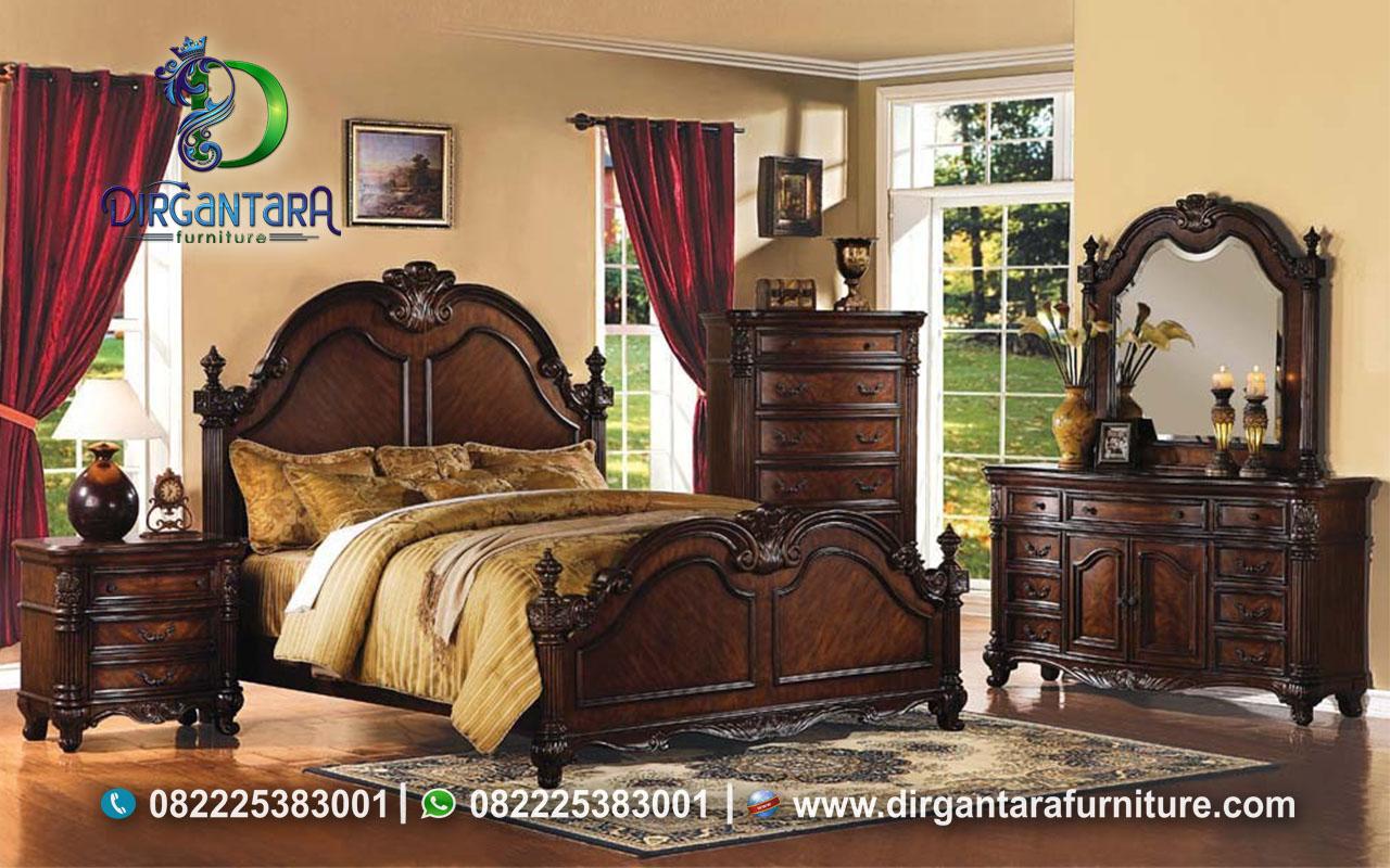 Set Klasik Kamar Dari Jati Perhutani KS-127, Dirgantara Furniture
